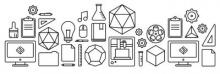 Graphic of lots of tools and equipment